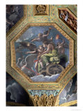 Venus and Cupid in a Chariot Drawn by Swans  Ceiling Caisson from the Sala Di Amore E Psiche  1528