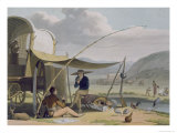 Halt of a Boor&#39;s Family  Plate 17 from &#39;African Scenery and Animals&#39;  Engraved by the Artist  1805