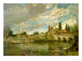 The Bridge of Harnham and Salisbury Cathedral  c1820