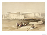 Ruins of Baalbec  May 5th 1839  Plate 77 from Volume II of 'The Holy Land'  Engraved by Louis Haghe
