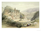 El Deir  Petra  March 8th 1839  Plate 90 from Volume III The Holy Land  Engraved by Louis Haghe