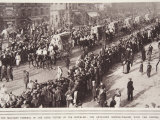 Military Funeral  Paris Victims of Zeppelins  Artillery Service-Wagons