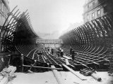 Paris Metro at Place Saint-Michel: Caisson Prior to Its Being Placed in the River Seine  c1906