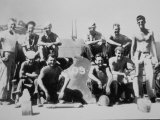 Lieutenant John F Kennedy with the Crew of His Patrol Torpedo Boat PT-109  July 1943