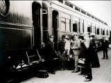 Passengers Boarding First Class Pullman Car of the Chicago  Burlington and Quincy Railroad  c1910