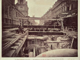 Construction of the Metro System Along the Rue de Rivoli  1898