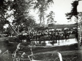 Federal Battery Fording a Tributary of Rappahannock  Battle Day  Cedar Mountain  Virginia  1862