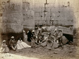 Group Photograph in the Hall of Columns  Karnak  Thebes  1862