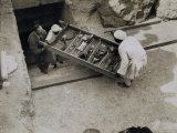 Tray of Chariot Parts Being Removed from the Tomb of Tutankhamun  Valley of the Kings  1922