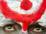 Sadhu  or Hindu Holy Man  Looks on During the Annual Cattle Fair  Pushkar  India  November 3  2006