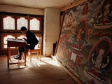 A Student of Traditional Buddhist Art Undergoes a Final Examination