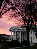 The Early Morning Sunrise Warms the Sky Over the White House
