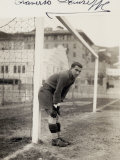 Portrait of Giuseppe Traverso  Goalie on the Genova Soccer Team