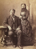 Portrait of a Bearded Woman Next to Her Husband
