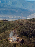 Smoke Rises from a Drilling Rig on the Roan Plateau