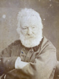 Half-Length Portrait of the Famous French Writer Victor Hugo