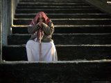A Palestinian Man at a Soccer Stadium in Gaza City  October 23  2006
