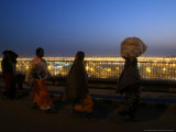Hindu Devotees Walk to Return Home  Ardh Kumbh Mela Festival in Allahabad  India  January 19  2007