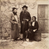 Portrait of Three Jewish Men in Jerusalem