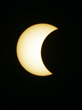 The Moon Partially Covers the Sun During the Peak of an Annular Eclipse Seen from Tel Aviv