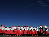 Lesotho Singers Wait to Perform During Ceremonies Held to Commemorate International Aids Day