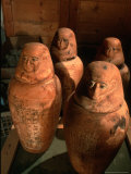 26th Dynasty Canopic Jars  Tomb of Iufaa  Abu Sir  Egypt
