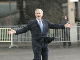 President Bush Departs in the Rain at Boeing Field in Seattle