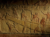 Tomb of Ti  Building Relief of Wood Planked Nile Boat  Saqqara  Egypt