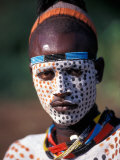Karo Warrior in Traditional Body Paint  Ethiopia