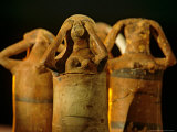 Clay Statuettes of Mourner  Bahariya Museum  Bahariya Oasis  Valley of the Golden Mummies  Egypt