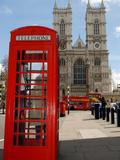 A British Telecom Red Phone Box