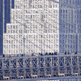 Manhattan Bound Pedestrians Cross the Brooklyn Bridge