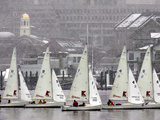 Sailboats Pass Faneuil Hall