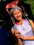 Ethnic Dancer in Traditional Costume in Kumming  Yunnan  China