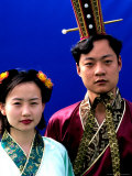 Couple in Tang Dynasty Traditional Costume  China