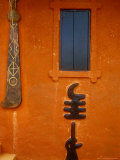 Adinkra Symbols on Shrine to Nana Yaa Asantewaa  Ejisu  Ghana
