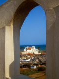 St George&#39;s Castle Through Arched Window at St Jago Fort  Elmina Castle  Elmina  Ghana
