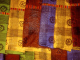 Detail of Adinkra Cloth  Market  Sampa  Brongo-Ahafo Region  Ghana