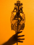 Theatre Display of Balinese Shadow Puppets or Wayang  Ubud  Bali  Indonesia