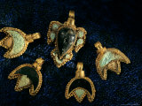 Necklace Adornments  Gold Artifacts From Tillya Tepe Find  Six Tombs of Bactrian Nomads