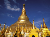 Golden Stupa of Shwedagon Pagoda  Yangon  Myanmar