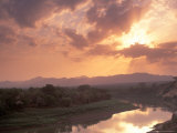 Sunset Over the Omo River  Near a Karo Village  Ethiopia