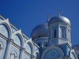 Blue and White Domed Greek Orthodox Church  Uspensky Cathedral  Odessa  Ukraine