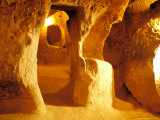 Room in the Underground City in Mazikoy  Cappadocia  Central Anatolia  Turkey
