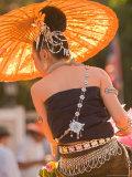 Girl in Traditional Dress Celebrating Loicratong Festival  Khon Kaen  Isan  Thailand