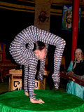 Contortionist Performing on a Table in Ulaan Baatar  Mongolia