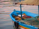 Colorful Harbor Boats and Reflections  Kusadasi  Turkey
