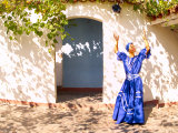 African Dancer in Old Colonial Village  Trinidad  Cuba