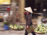 Blurred Action and Rush of Hanoi City Streets  Vietnam
