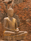 Buddha image  Phra Prang Sam Yoo ruins  Asia  Thailand  Lop Buri
